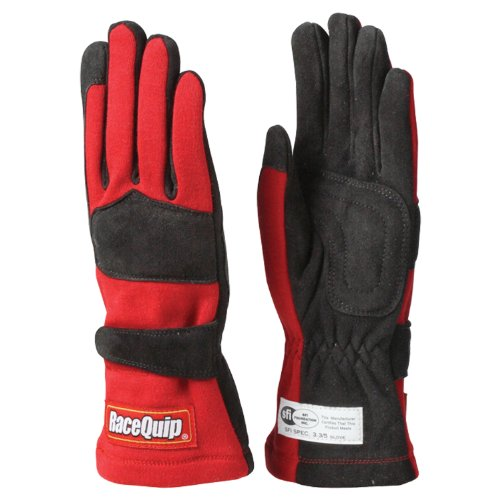 RaceQuip 355016 355 Series X-Large Red SFI 3.3/5 Two Layer Racing Gloves