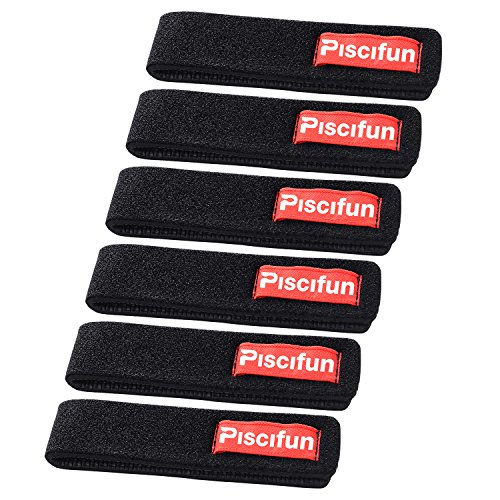 Piscifun Fishing Rods Belt Ties Rod Strap Stretchy Trout Finishing Rods Carbon Telescopic Bait Casting Spinning Rods Holder Wrap Bag Accessories 6pcs