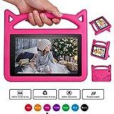 Baobeir Fǐrě 7 2015 Case,Fǐrě 7 Case 2017,Kids Shock Proof Protective Cover Case with Handle Stand for Ämǎzǒn Fǐrě 7 Inch Tablet (5th Generation 2015 / 7th Generation 2017) (Pink 2)