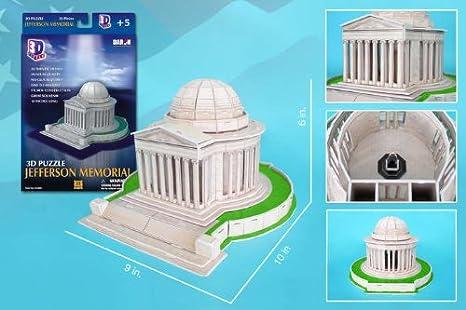 CF208H Daron Jefferson Memorial 3D Puzzle 35-Piece Daron World wide Trading Inc