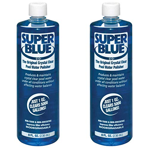 Robarb 20152A Super Blue Crystal Clear Pool Water Clarifier, 8 Fl Oz (2 Pack)
