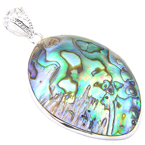 Luckyshine Unique Natural Rainbow Abalone Shell Pendants Necklaces