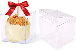 12 PCS Clear Candy Apple Box With Hole Top   4