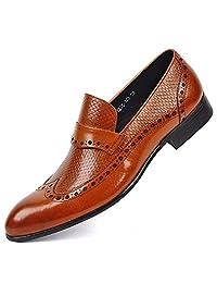 2 Color Size 5-11 Animal Print Leather Mens Slip On Formal Dress Loafer Shoes
