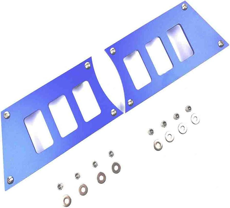 """Aluminum Anode blue"" POLARIS RZR DASH ROCKER SWITCH PLATE PANEL 900 900s 1000s XP1000 2015-2018, 304 Stainless Steel Bolts"