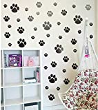 good looking cat wall decals Pet Paw Wall Decal, DIY Cat Dogs Footprint Wall Sticker for Kids Room Decoration, Animal Theme Party Sticker (40pcs Paw Decals)