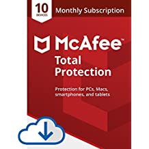 McAfee Total Protection|Antivirus| Internet Security| 10 Device| 1 Month Subscription with auto renewal |2019 Ready