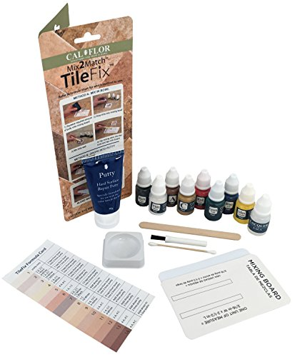White Granite Tiles (Cal-Flor FL49113CF TileFix Mix2Match Tile & Stone Repair Kit)