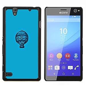 Stuss Case / Funda Carcasa protectora - Modelo azul minimalista Vuelo - Sony Xperia C4