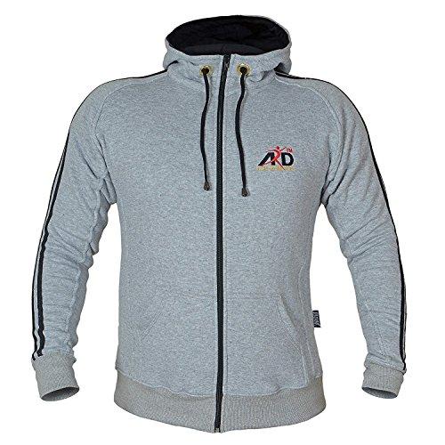 Champ Fleece Sweatshirt - ARD CHAMPS Fleece Full Zip Hoodie Sweatshirt Top MMA Running Jogging S to 3xl (Grey, large)