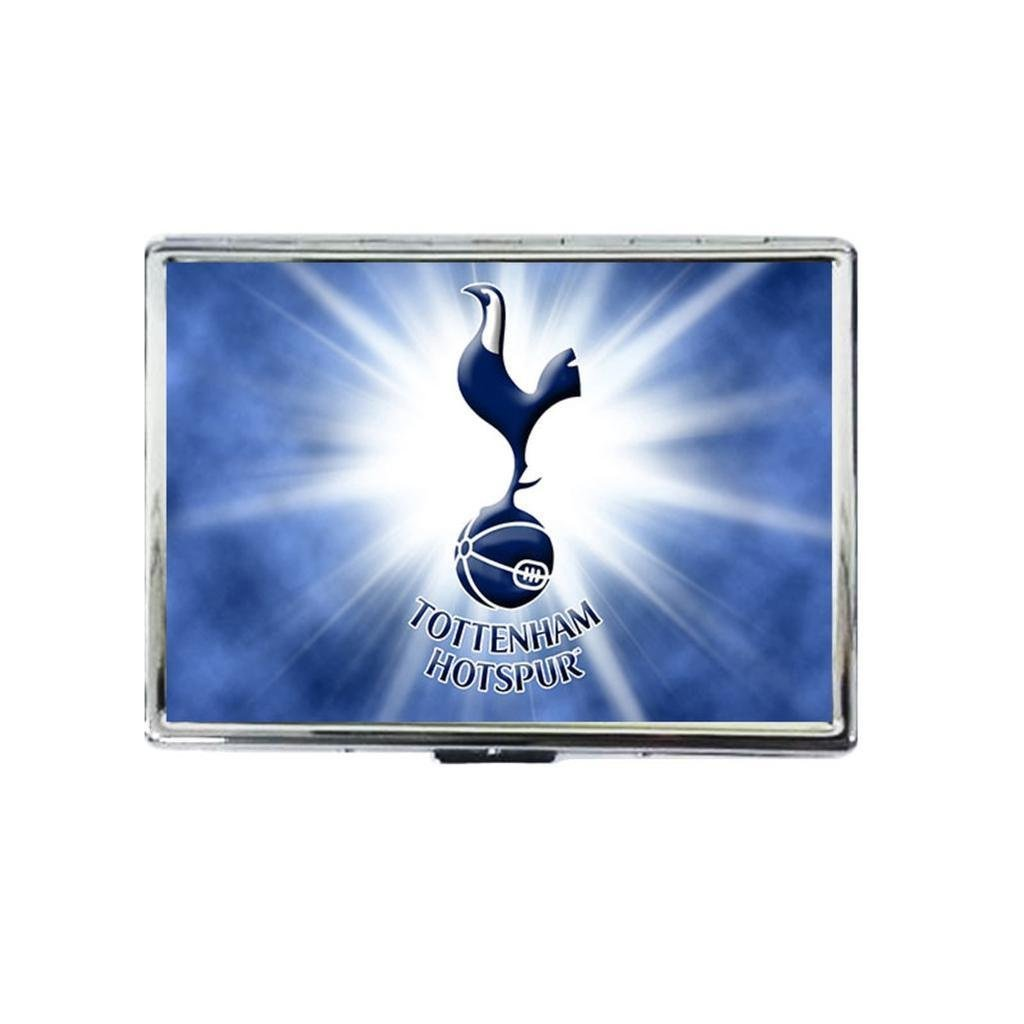 Awesome Tottenham Hotspur Custom design silver stainless steel cool box purse credit card RFID Security