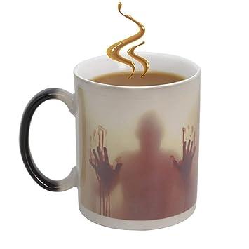 Farbwechsel Tasse Walking Dead Magische Keramik Becher Zombie Mug Lustige Geschenke