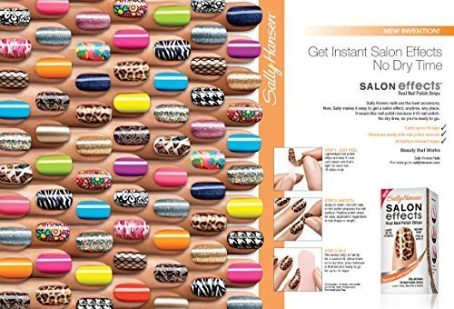 10 Pack Sally Hansen Salon Effects Real Nail Polish Strips (Some Doubles)]()