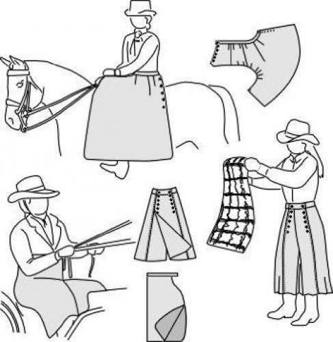 適合性6500サイドサドルエプロン、ドライビングエプロン、ライディングスカートの縫製