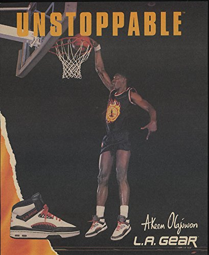 Unstoppable Akeem Olajuwon for L A Gear Basketball Shoes ad 1989