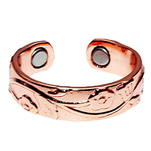 LONGRN-Magnetic Copper Ring adjustable size for Arthritis for Women