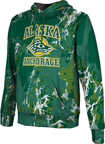 ProSphere University of Alaska Anchorage Men's Pullover Hoodie, School Spirit Sweatshirt (Marble) FABA2