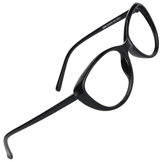 4bacd734ea57 Slocyclub New Vintage Cateye Glasses Full Rim Optical Eyewear with Clear  Lens for Women-Black