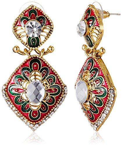 Aheli Drop Earrings for Women (Multi-Colour) (A3E19)