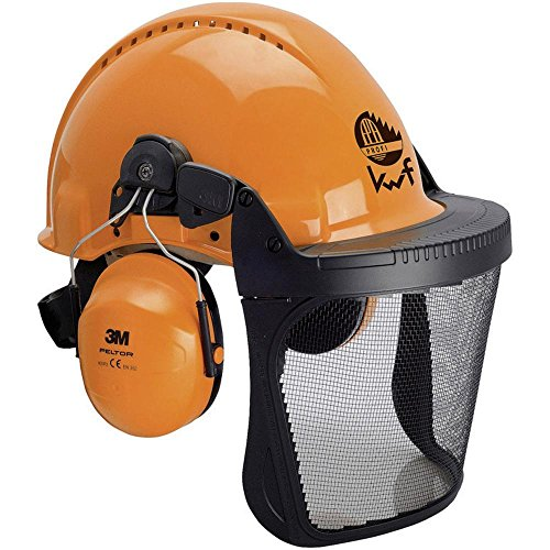 3M FORST-SCHUTZHELM-SET ORANGE VISIER 5C