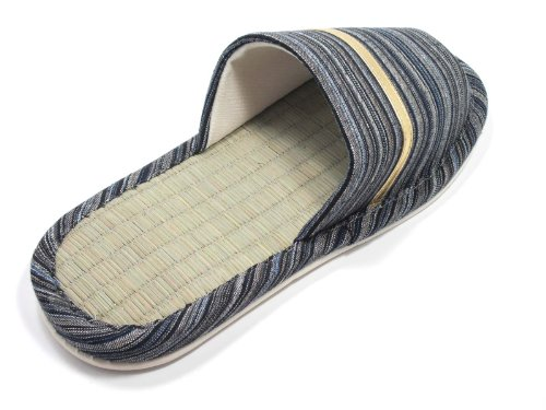 three Available Gray Mens sizes colors Indoor Bamboo Tatami four KNP21301T Slippers and Strip 06qwY