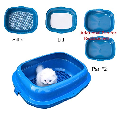 Favorite-High-Sided-19-Double-Trayed-Pine-Sifter-Cat-Litter-Box