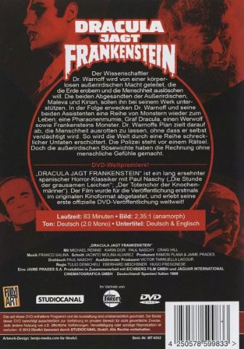 Assignment Terror (Dracula vs. Frankenstein) (Region 2 - PAL DVD)