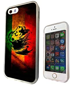 iphone 4 4S 5 5S 5C Rasta Lion Jamaican Style Marijuana Leaf Cannabis Funky Design Fashion Trend SILICONE GEL RUBBER CASE COVER-Select your phone model from the drop box under (iphone 5 5S)