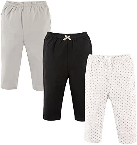 Hudson Baby Cotton Pants, 3 Pack