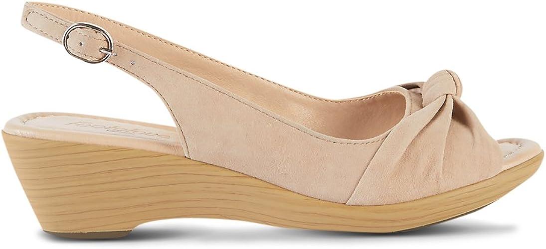 Suede Wedge Heel Sandals