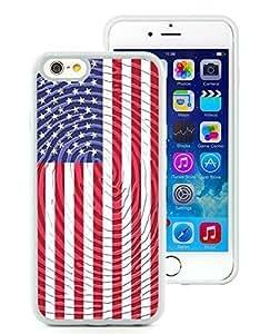 Customized American Flag 15 iPhone 6 plus 5.5 TPU Case in White