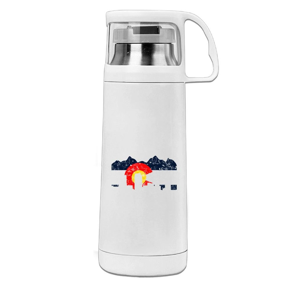 Nngsiko Denver Colorado Flag Thermos Water Bottle Stainless Steel Insulated Vacuum Cups for Ki