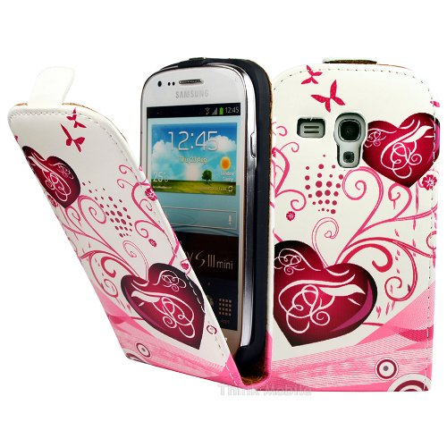 Premium Piel Flip Case–Samsung Galaxy A Series Smartphone Funda Flip Case Funda Cover Carcasa Funda–Thinkmobile Hearts 1 Flip