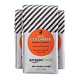 coffee bean intelligentsia - AmazonFresh Decaf Colombia Whole Bean Coffee, Medium Roast, 12 Ounce (Pack of 3)