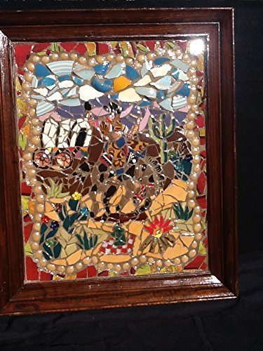 Cowboy Horse Rodeo Mosaic Wall décor (Rodeo Mosaic)