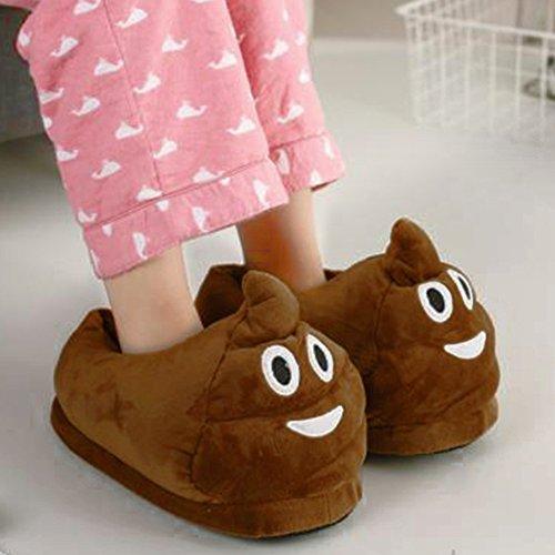 Schöne Emoji Pantoffeln Winter Warm zu Hause Unisex Erwachsene Plüsch Lustig Komfortable Innen Schuhe