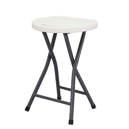 Amazon.com: H Taburete plegable elegante minimalista moderno ...