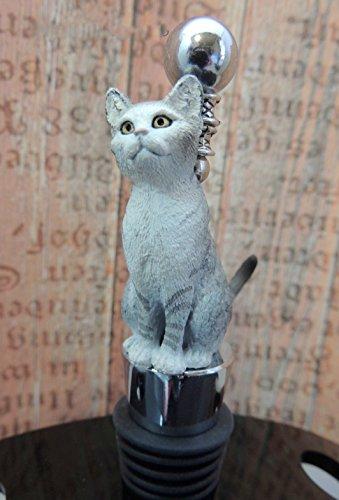 Cat lovers Wine Stoppers Tabby Santa cat Kittens gift feline Wine tasteing