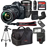 Canon EOS 5D Mark IV With 24-105mm f/4 L IS II USM Lens Kit Bundle + 64GB High Speed Memory Card + Canon 300DG Deluxe Camera Bag + Wireless Remote Shutter + Tripod + More (Certified Refurbished)