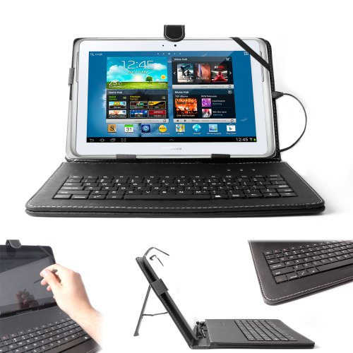 DURAGADGET Case with Micro USB Keyboard & Built-In Stand ...
