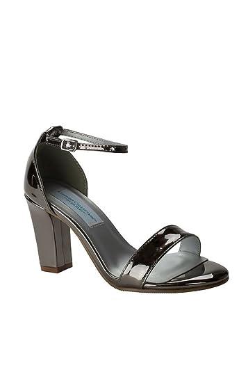 d17b63688b28 David s Bridal Patent Ankle-Strap Block Heel Sandals Style Maddox