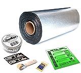 50 sqft GTmat Pro 50mil Roll (18'' x 33.3') Automotive Audio Sound Deadener Deadening Noise Dampener with Genuine Dynamat Tape