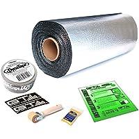 50 sqft GTmat Pro 50mil Roll (18 x 33.3) Automotive Audio Sound Deadener Deadening Noise Dampener with Genuine Dynamat Tape