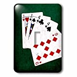 3dRose Alexis Photo-Art - Poker Hands - Poker Hands One Pair, Jack - Light Switch Covers - single toggle switch (lsp_270575_1)