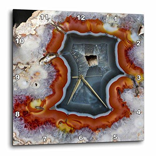 Danita Delimont - Rocks - Quartzsite, Banded Agate, Orange and Gray - (Gray Clock Plate)