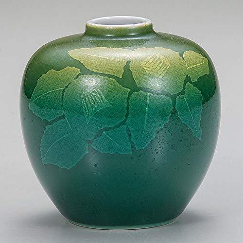 Small desk ikebana flower vase. Silver Japanese camellia.Japanese porcelain Kutani ware. ktn-k6-1201 ()