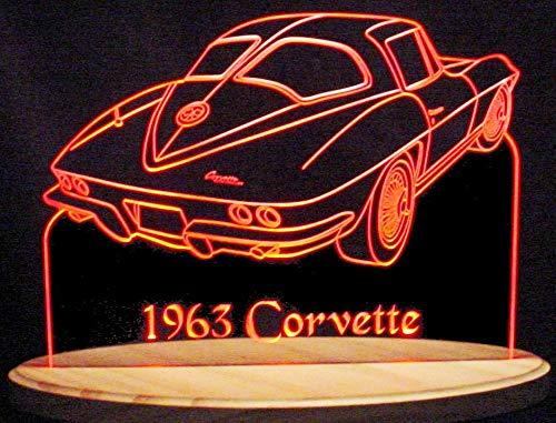 - ValleyDesignsND 1963 Corvette Split Window Acrylic Lighted Edge Lit 13
