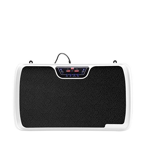 VibroSlim Tone Vibration Platform Fitness Machine, Oscillating Vibration Trainer + Free Workout DVD, Wall Chart & Resistance Bands (White) by VibroSlim (Image #2)