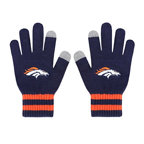 NFL Denver Broncos Men's Sportsman Touch OTS Glove, Light Navy, Men's