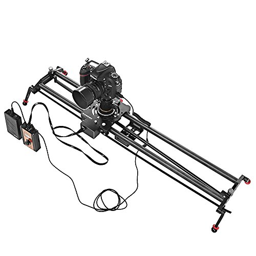 ASHANKS 1.2m/3.9ft S2 Silent Stepper Motor Motorized Timelapse Slider for Electric Control Follow Focus Interviews Shooting (Sliders Tripods)